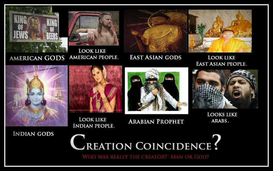 gods - created by man