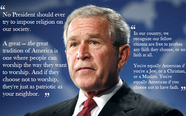 quote - george bush jr - faith quotes