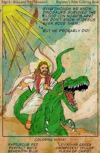 divine design - jesus velociraptor