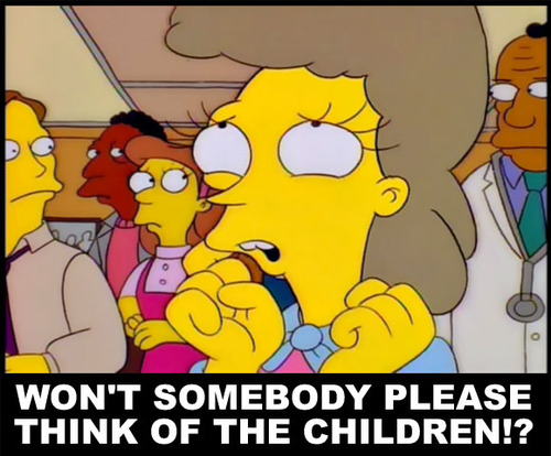 mind - simpsons think of the children