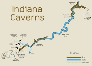 indiana caverns - map
