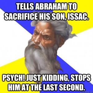 abraham - god is evil