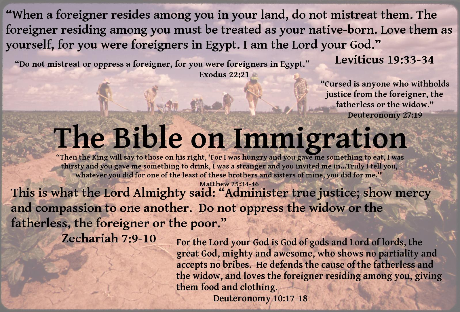 mindsoap - immigration, what does the bible say