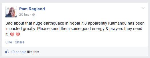 pam ragland - prayers for nepal 1