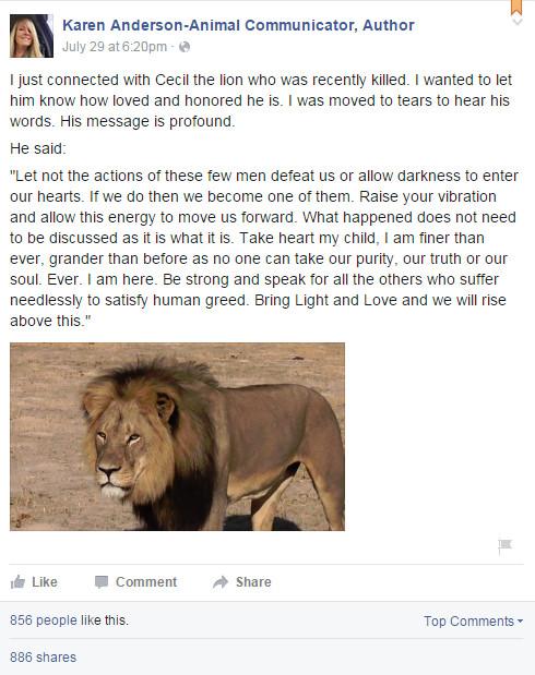 Karen Anderson - Talks to Dead Lion