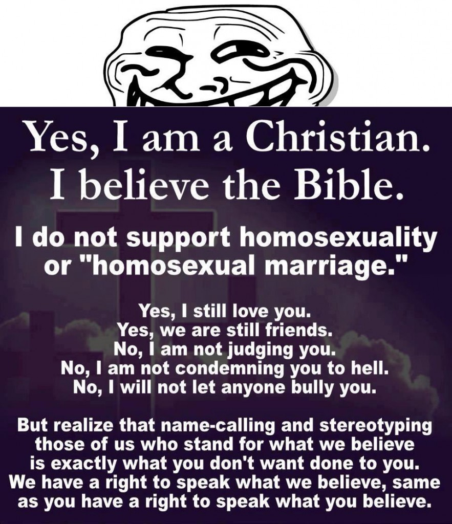 honest christian meme - i am christian, i believe in the bible - the original