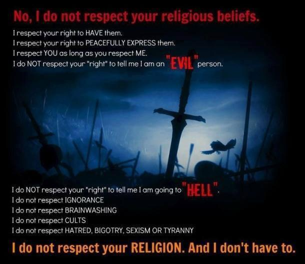 mindsoap - religion is evil and not to be respected