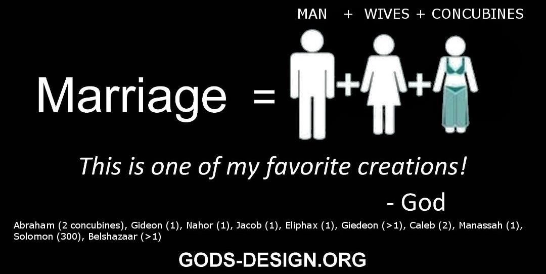gods original design ministry, honest christian marriage - 1. man wives concubines
