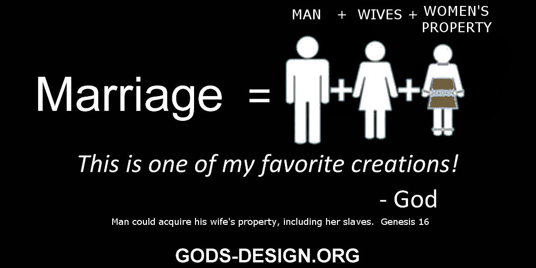 gods original design ministry, honest christian marriage - 2. man wives woman's property