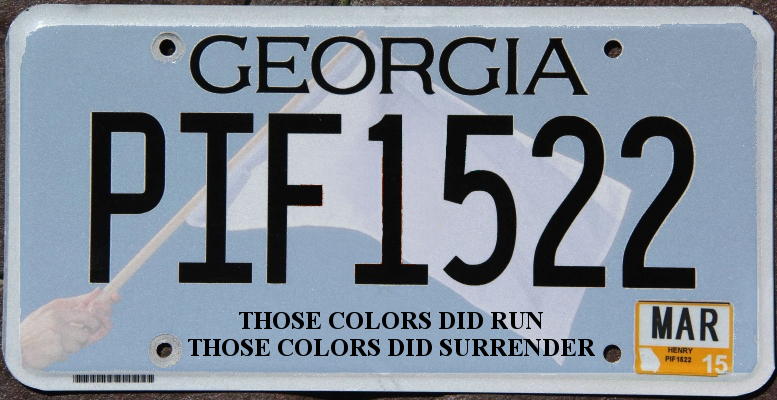 georgia confederate flag - those colors did run, they did surrender