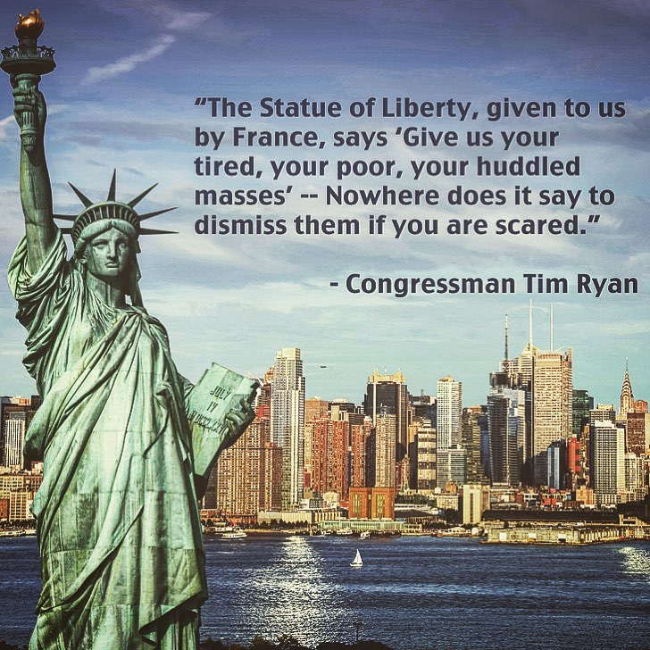 statue of liberty - dismissing refugees