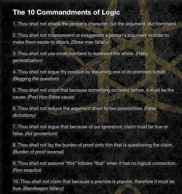 mindsoap - the ten commandments of logic