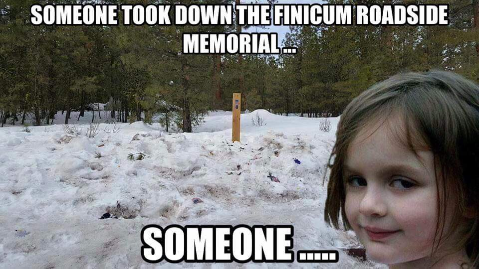 militia - roadside memorial gone
