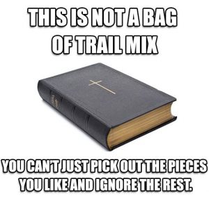 the bible - not holy trail mix