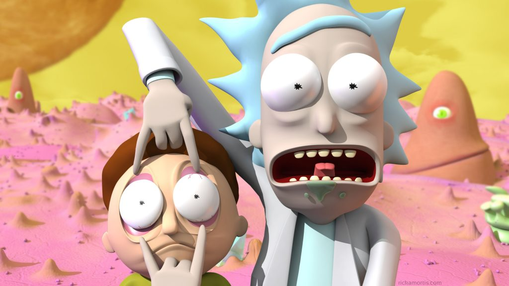 3D-Rick-and-Morty