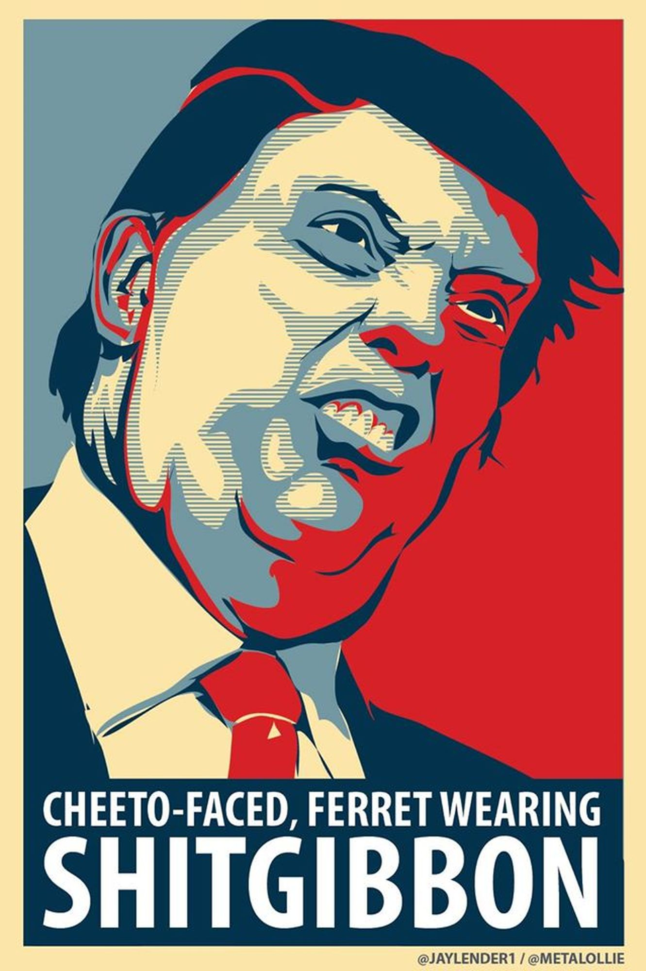Donald Trump - Cheeto-faced-ferret-wearingShitGIBBON