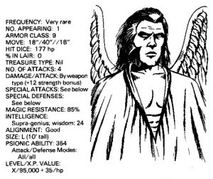 bible monster manual - angels