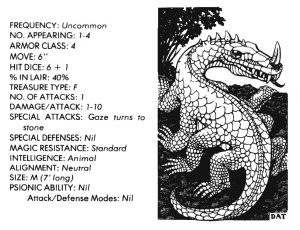bible monster manual - basilisk