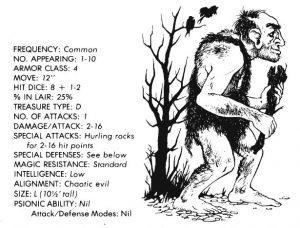 bible - monster manual - giant