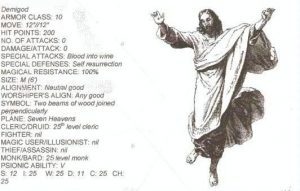 bible monster manual - jesus h christ