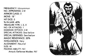 bible monster manual - satyr