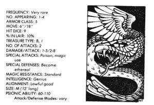 bible monster manual - serpent, flying