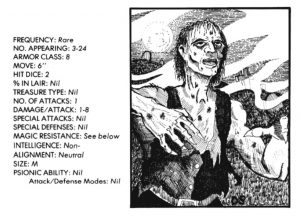 bible monster manual - zombie